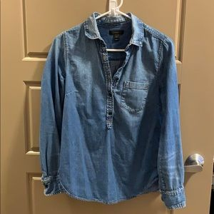 J.Crew jean pullover shirt size 4